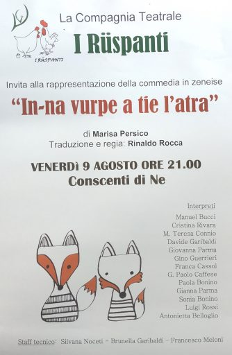 Commedia in genovese: in-na vurpe a tie l'atra