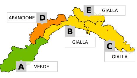 ALLERTA METEO GIALLA fino al 5/12/2020